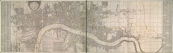 A new & exact plan of ye city of London and suburbs, 1731